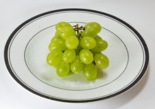 Grape on the dish Stock Image