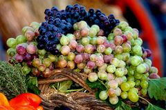 Grape Display. A display of grapes Stock Image