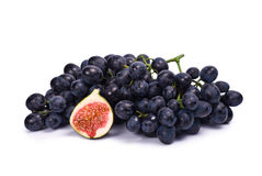 Grape and Fig Royalty Free Stock Photos