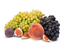 Grape, Figs and Peach Stock Photos