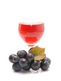 Grape flavor soft drinks. On white background Stock Photos