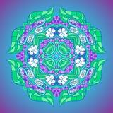 Grape flower mandala. Ornamental floral background. Flower ornate mandala royalty free illustration