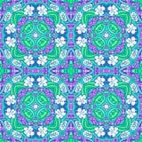 Grape flower mandala pattern Royalty Free Stock Photography