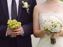 Grape and Flowers for Wedding Stock Images