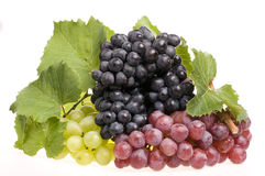 Grape food over white Royalty Free Stock Photo