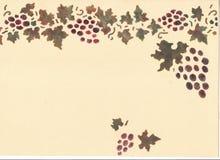 Grape frame. Royalty Free Stock Photo