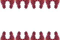 Grape frame isolated on white background. Royalty Free Stock Photo