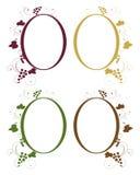 Grape frames Royalty Free Stock Photo