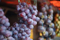 Grapes at stall in Medan Indonesia stock photos