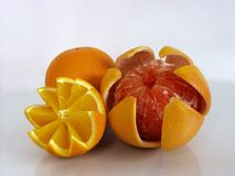 Grape fruit and orange Royalty Free Stock Images