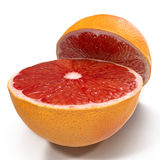 Grape-fruit solated on white 3D Illustration. Grape-fruit solated on white background 3D Illustration Stock Image