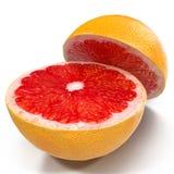 Grape-fruit solated on white 3D Illustration Stock Image