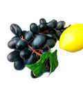 Grape fruits with lemon. Royalty Free Stock Photos