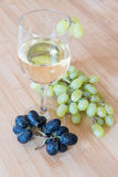 Grape fruits and wine Royalty Free Stock Photos
