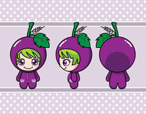 Grape girl Royalty Free Stock Image
