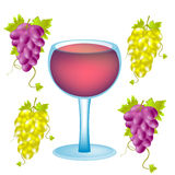 Grape and goblet blame Stock Image