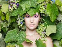 Grape goddess Royalty Free Stock Image