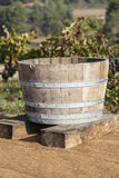 The Grape Harvest. Traditional wood vat for the grape harvest Royalty Free Stock Images