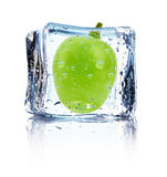 Grape in ice isolated on the white background Stock Images