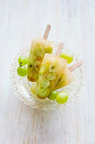 Grape ice lolly Royalty Free Stock Images