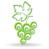 Grape Icon. Abctract silhouette of grapes. Grape Icon Royalty Free Stock Photo