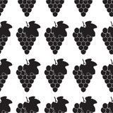 Grape Icon Food Fruit silhouette black and white sign symbol emblem seamless pattern vector illustration