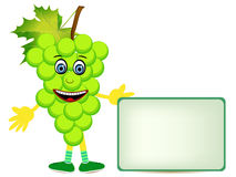 Grape illustration with banner Stock Photo