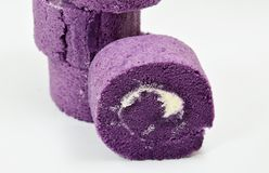 Grape jam roll Royalty Free Stock Photo