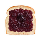 Grape Jelly on Bread Stock Image