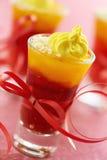 Grape jelly dessert Stock Photos