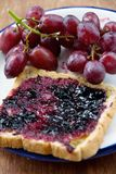 Grape Jelly Sandwich Royalty Free Stock Photos