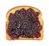 Grape jelly on wheat bread Royalty Free Stock Images