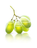 Transparent grapes with juice royalty free stock photo
