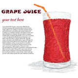 Grape juice Stock Images