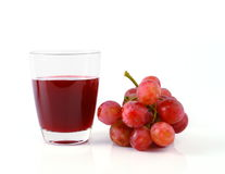 Grape juice and grape  isolated Stock Photo