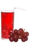 Grape juice with ice and fruit Royalty Free Stock Photo