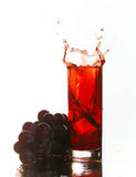 Grape juice splash Royalty Free Stock Photo