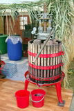 Traditional Grape juicer machine Royalty Free Stock Photography