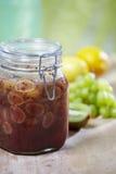 Grape and kiwi homemade jam Stock Images