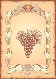 Grape label royalty free illustration