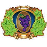 Grape label background Stock Images