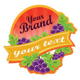 Grape Label. Label for some beverages made by grape, or can be used as logo. All elements are grouped and layered. Files in Adobe Illustration 10 Royalty Free Stock Photos