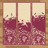 Grape labels vintage vector Royalty Free Stock Images