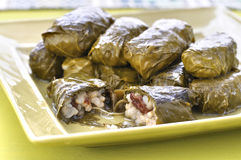 Grape leaf dolmades Stock Photos