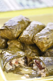 Grape leaf dolmades Royalty Free Stock Images