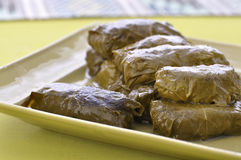 Grape leaf dolmades Stock Image