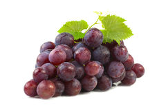 Grape with leaf. Royalty Free Stock Photo