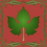 Grape leaf illustration on vintage background. vector illustration