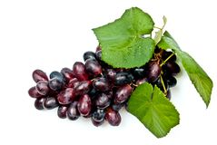 Grape with leaves Royalty Free Stock Images