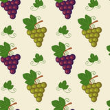 Grape with leaves seamless pattern background illustration Royalty Free Stock Photography
